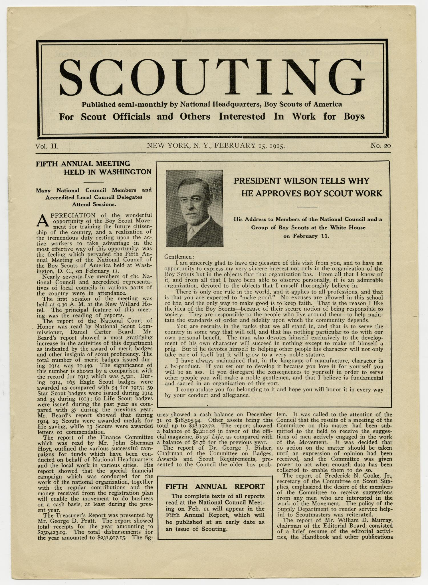 Scouting, Volume 2, Number 20, February 15, 1915                                                                                                      1