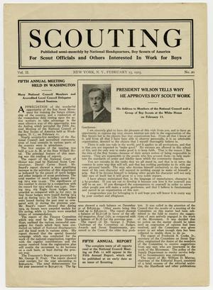 Primary view of object titled 'Scouting, Volume 2, Number 20, February 15, 1915'.