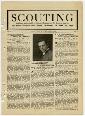 Primary view of object titled 'Scouting, Volume 2, Number 21, March 1, 1915'.