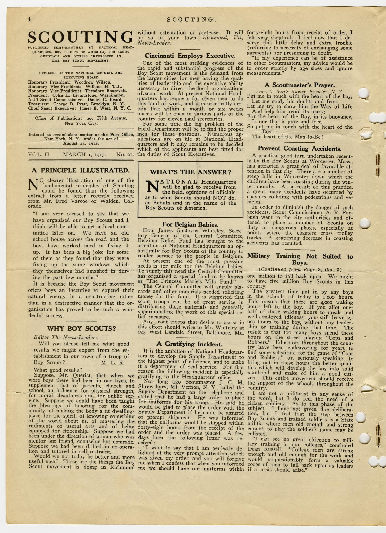 Scouting, Volume 2, Number 21, March 1, 1915                                                                                                      4