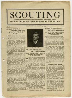 Primary view of object titled 'Scouting, Volume 2, Number 22, March 15, 1915'.