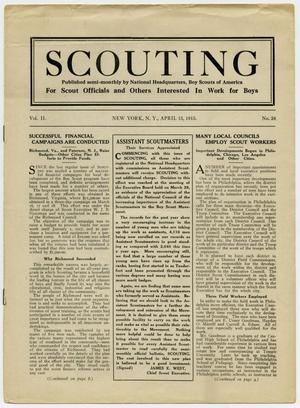 Primary view of object titled 'Scouting, Volume 2, Number 24, April 15, 1915'.