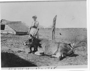 Primary view of object titled 'Henrietta Bideault on the Family Farm'.