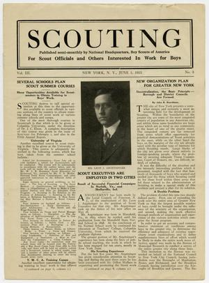 Primary view of object titled 'Scouting, Volume 3, Number 3, June 1, 1915'.