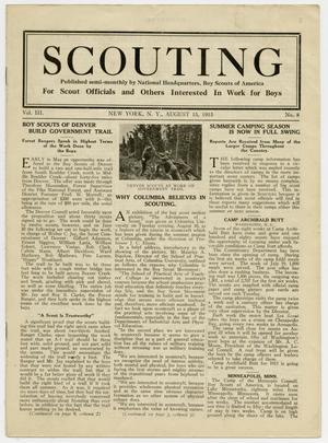 Primary view of object titled 'Scouting, Volume 3, Number 8, August 15, 1915'.