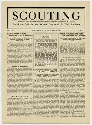 Primary view of object titled 'Scouting, Volume 3, Number 11, October 1, 1915'.
