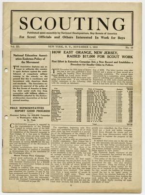 Primary view of object titled 'Scouting, Volume 3, Number 13, November 1, 1915'.