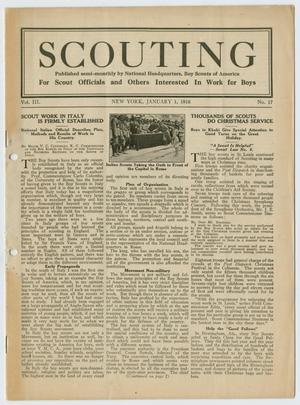 Primary view of object titled 'Scouting, Volume 3, Number 17, January 1, 1916'.