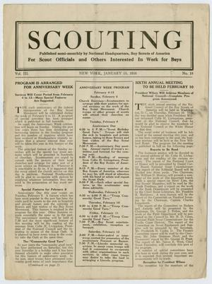 Scouting, Volume 3, Number 18, January 15, 1916