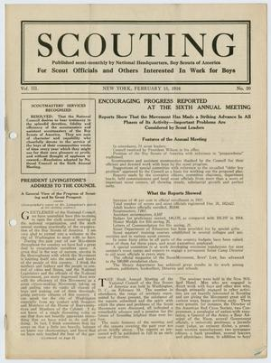 Primary view of object titled 'Scouting, Volume 3, Number 20, February 15, 1916'.