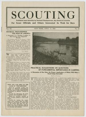 Scouting, Volume 3, Number 23, April 15, 1916