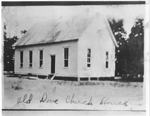 Primary view of object titled 'Original Lonesome Dove Baptist Church'.