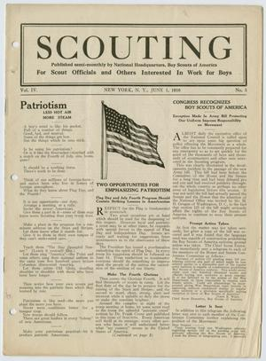 Primary view of object titled 'Scouting, Volume 4, Number 3, June 1, 1916'.