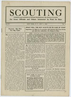 Primary view of object titled 'Scouting, Volume 4, Number 5, July 1, 1916'.