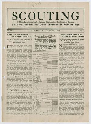 Primary view of object titled 'Scouting, Volume 4, Number 7, August 1, 1916'.