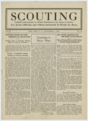 Primary view of object titled 'Scouting, Volume 4, Number 13, November 1, 1916'.