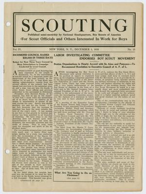Primary view of object titled 'Scouting, Volume 4, Number 15, December 1, 1916'.