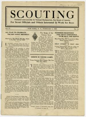 Primary view of object titled 'Scouting, Volume 4, Number 19, February 1, 1917'.