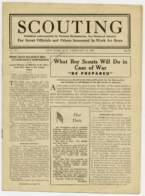 Primary view of object titled 'Scouting, Volume 4, Number 20, February 15, 1917'.