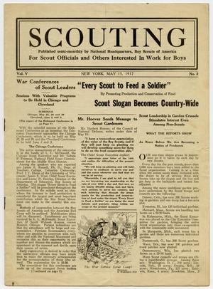 Primary view of object titled 'Scouting, Volume 5, Number 2, May 15, 1917'.