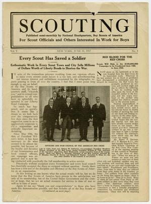 Primary view of object titled 'Scouting, Volume 5, Number 4, June 15, 1917'.