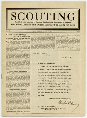 Scouting, Volume 5, Number 5, July 1, 1917