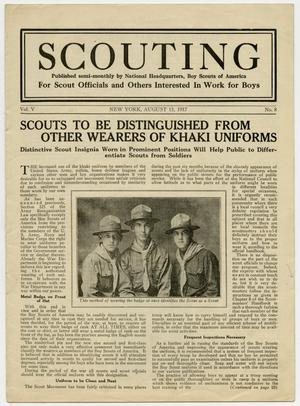 Scouting, Volume 5, Number 8, August 15, 1917