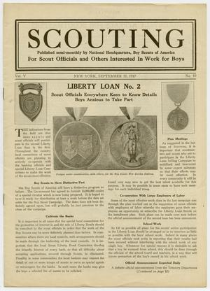 Primary view of object titled 'Scouting, Volume 5, Number 10, September 15, 1917'.
