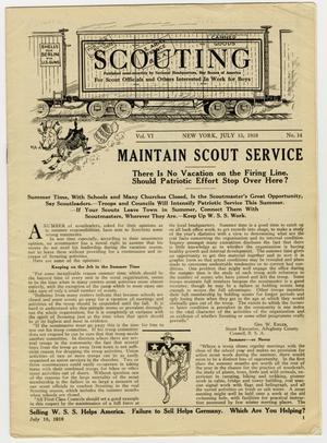 Scouting, Volume 6, Number 14, July 15, 1918