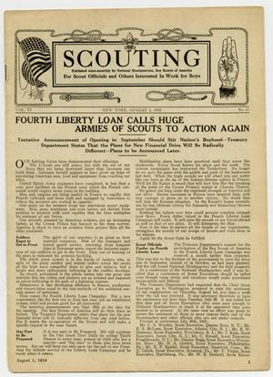 Primary view of object titled 'Scouting, Volume 6, Number 15, August 1, 1918'.