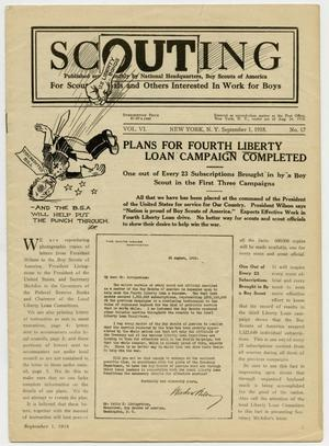Primary view of object titled 'Scouting, Volume 6, Number 17, September 1, 1918'.