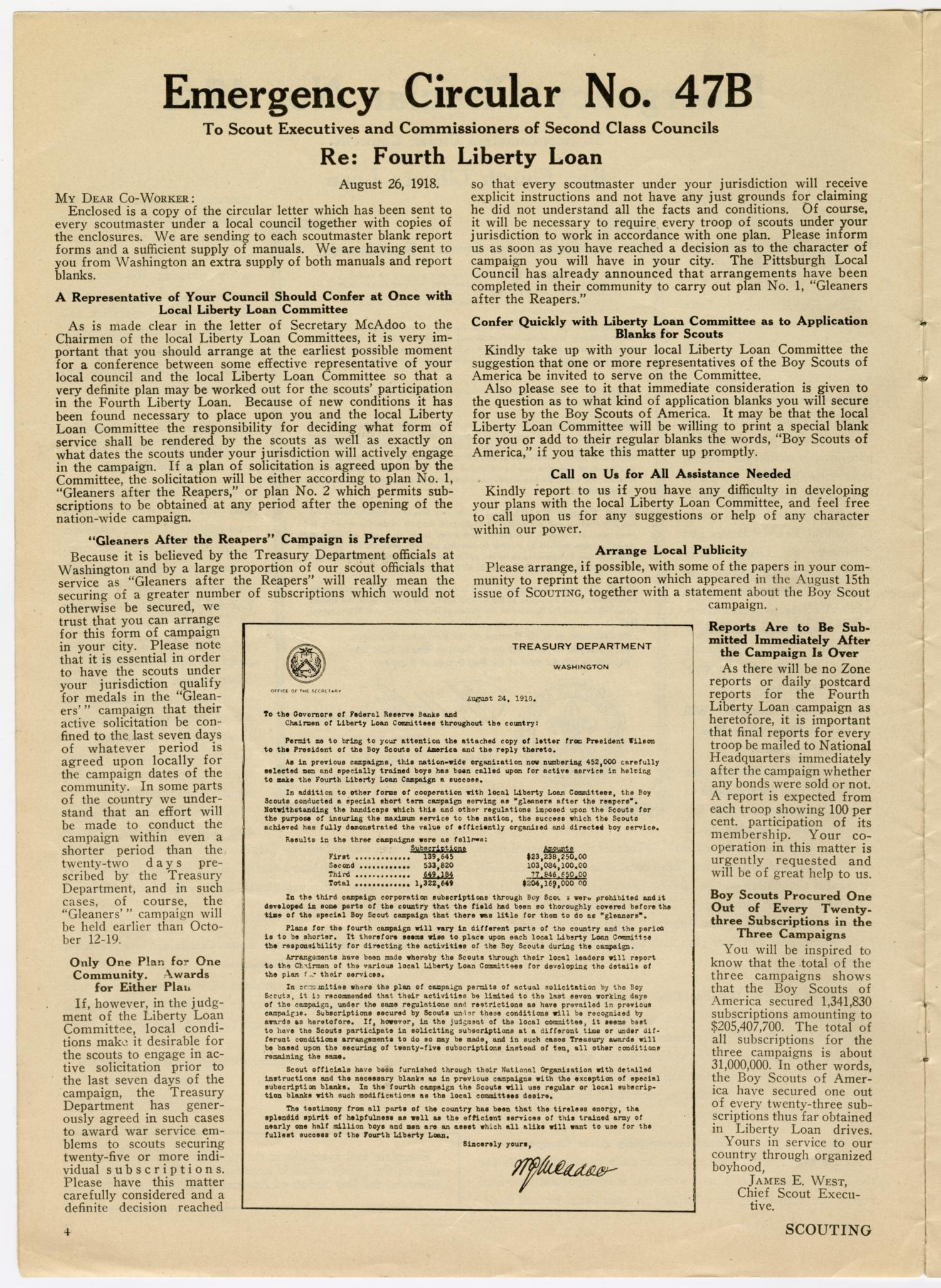 Scouting, Volume 6, Number 17, September 1, 1918                                                                                                      4