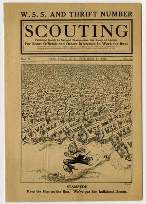 Primary view of object titled 'Scouting, Volume 6, Number 23, October 17, 1918'.