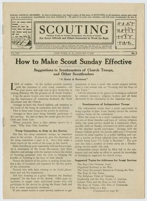 Primary view of object titled 'Scouting, Volume 7, Number 2, January 9, 1919'.