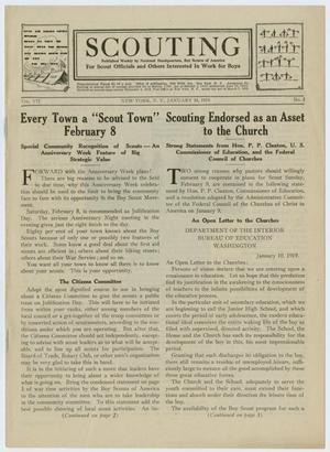 Primary view of Scouting, Volume 7, Number 3, January 16, 1919