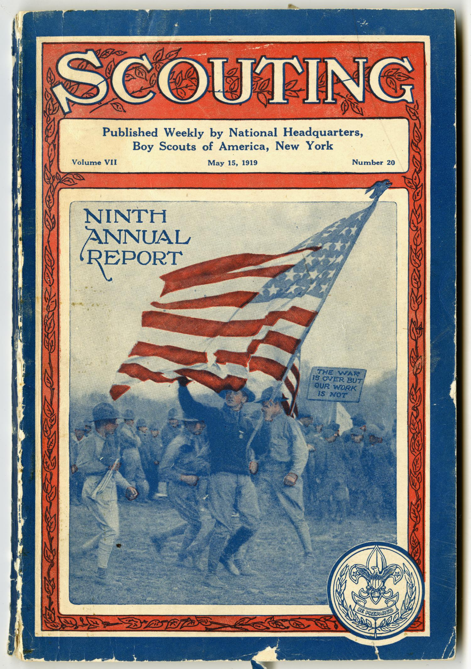 Scouting, Volume 7, Number 20, May 15, 1919                                                                                                      Front Cover