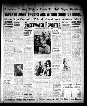 Primary view of object titled 'Sweetwater Reporter (Sweetwater, Tex.), Vol. 47, No. 270, Ed. 1 Wednesday, November 22, 1944'.