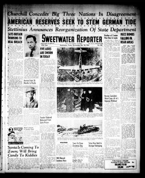 Primary view of object titled 'Sweetwater Reporter (Sweetwater, Tex.), Vol. 47, No. 283, Ed. 1 Wednesday, December 20, 1944'.