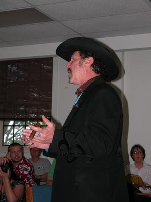 Primary view of object titled 'Kinky Friedman at UNT'.