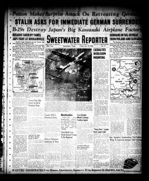 Primary view of object titled 'Sweetwater Reporter (Sweetwater, Tex.), Vol. 48, No. 17, Ed. 1 Friday, January 19, 1945'.