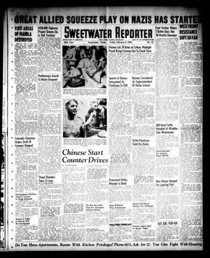 Primary view of object titled 'Sweetwater Reporter (Sweetwater, Tex.), Vol. 48, No. 35, Ed. 1 Friday, February 9, 1945'.