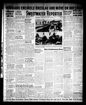 Primary view of object titled 'Sweetwater Reporter (Sweetwater, Tex.), Vol. 48, No. 37, Ed. 1 Monday, February 12, 1945'.