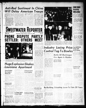 Primary view of Sweetwater Reporter (Sweetwater, Tex.), Vol. 49, No. 42, Ed. 1 Tuesday, February 19, 1946