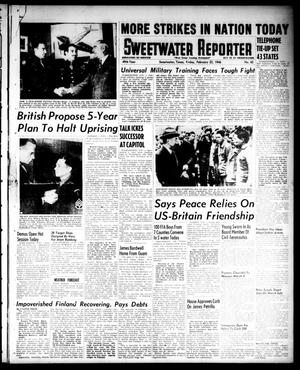 Primary view of object titled 'Sweetwater Reporter (Sweetwater, Tex.), Vol. 49, No. 45, Ed. 1 Friday, February 22, 1946'.