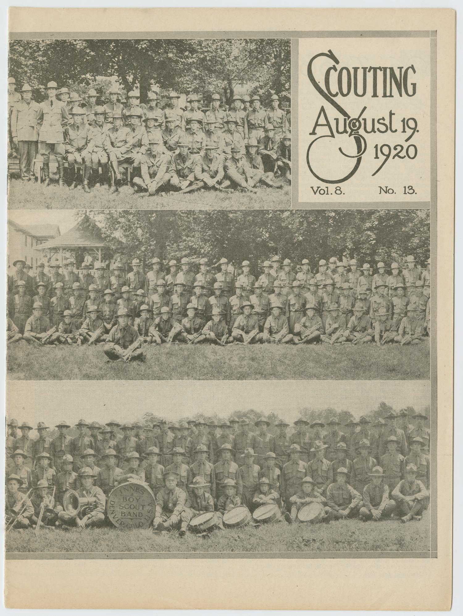 Scouting, Volume 8, Number 13, August 19, 1920                                                                                                      1