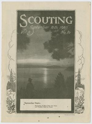 Primary view of object titled 'Scouting, Volume 8, Number 14, September 16, 1920'.