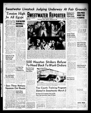 Primary view of object titled 'Sweetwater Reporter (Sweetwater, Tex.), Vol. 49, No. 47, Ed. 1 Monday, February 25, 1946'.
