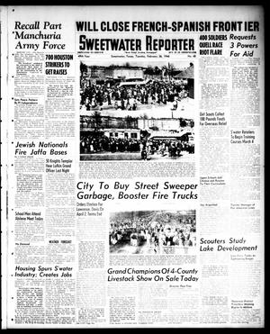 Primary view of object titled 'Sweetwater Reporter (Sweetwater, Tex.), Vol. 49, No. 48, Ed. 1 Tuesday, February 26, 1946'.