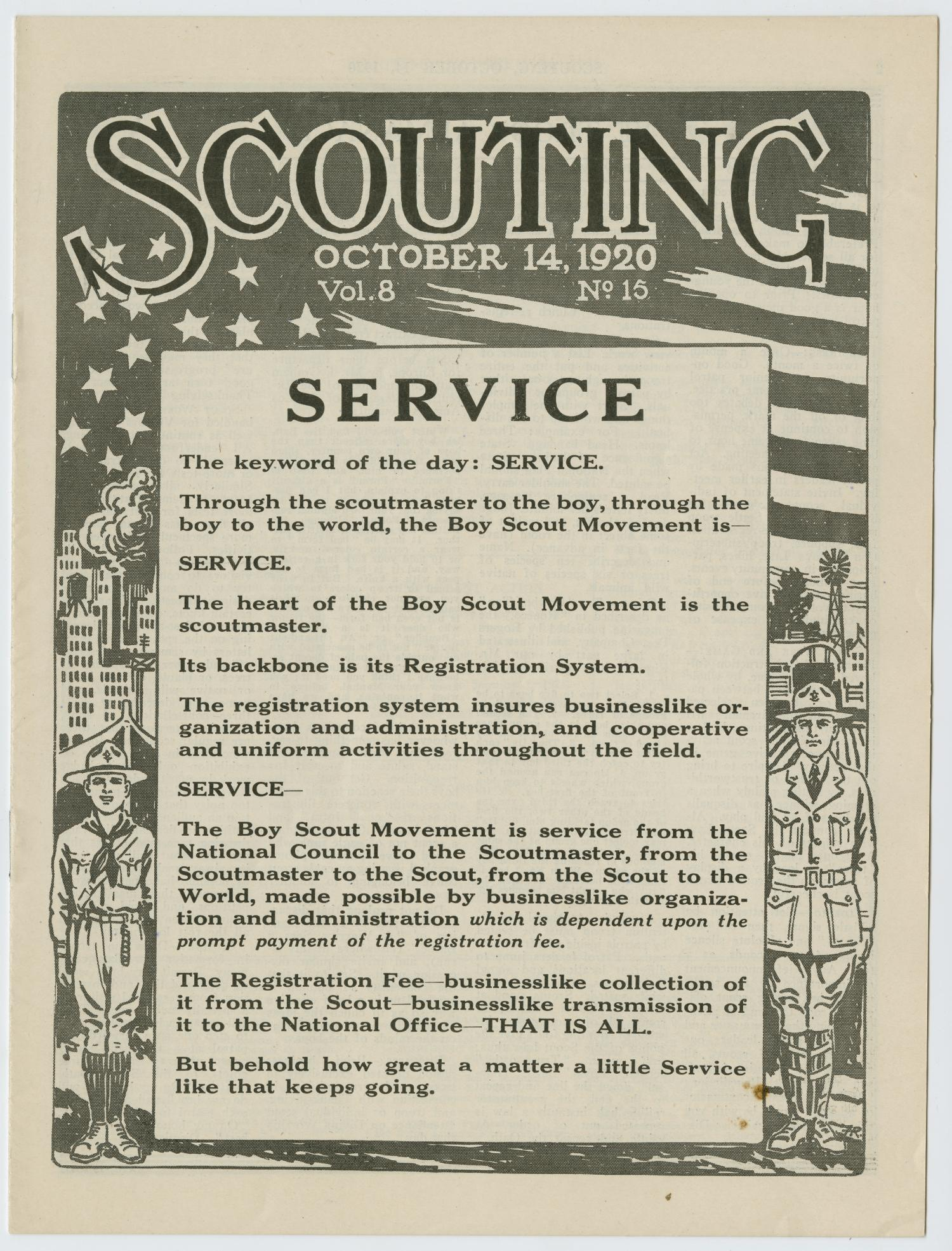 Scouting, Volume 8, Number 15, October 14, 1920                                                                                                      1