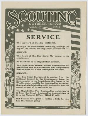 Scouting, Volume 8, Number 15, October 14, 1920